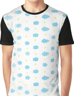 Cloudy pattern Graphic T-Shirt