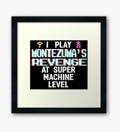 Montezuma's revenge, white font (atari 3D) Framed Print
