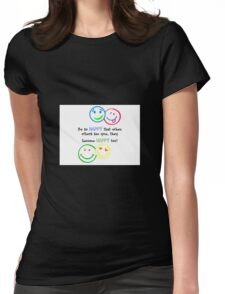 HAPPY FACES !!! Womens Fitted T-Shirt