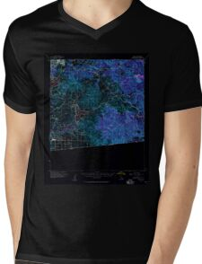 USGS TOPO Map California CA Jamul 297825 1955 62500 geo Inverted Mens V-Neck T-Shirt