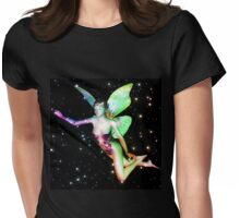 Fairy in stars Womens Fitted T-Shirt