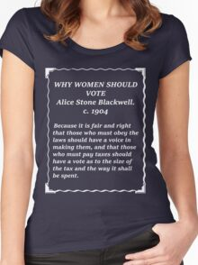 Why women should vote - Alice Stone Blackwell Women's Fitted Scoop T-Shirt