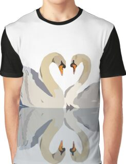 Perfect Pair of Swans Graphic T-Shirt