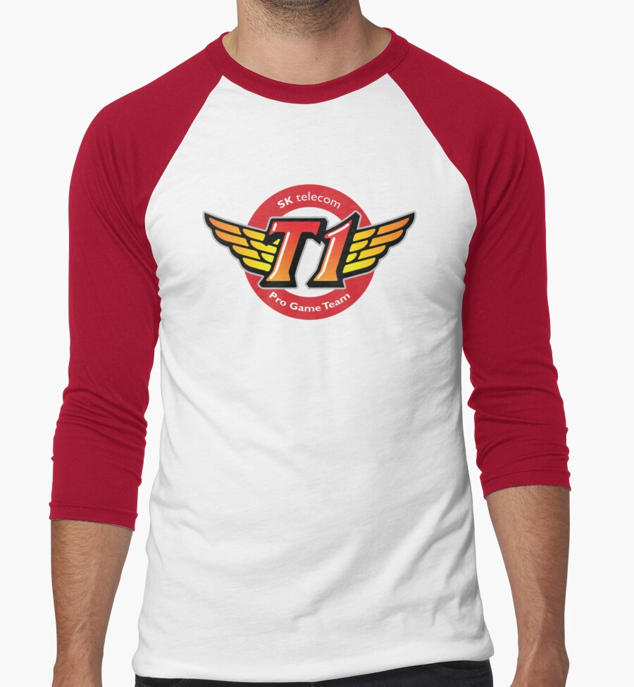 Skt T1 Logo Best Quality Ever Men 39 S Baseball T