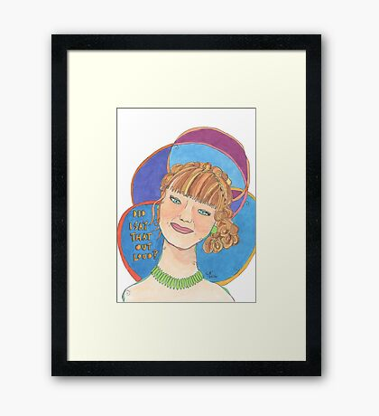 Did I Say that Out Loud? - Girl Portrait Framed Print