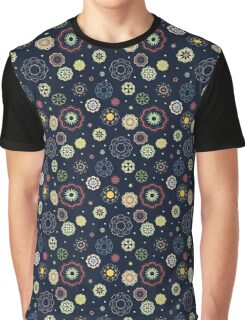 Seamless abstract vector floral texture on dark background Graphic T-Shirt