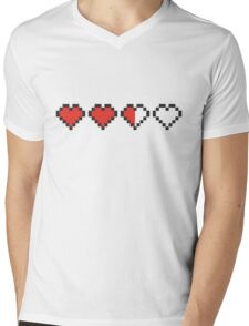 Heart containers Mens V-Neck T-Shirt