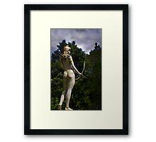 Diana, Goddess Of The Hunt Framed Print