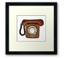 Wooden telephone Framed Print