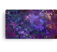 Glitched Galaxy Canvas Print