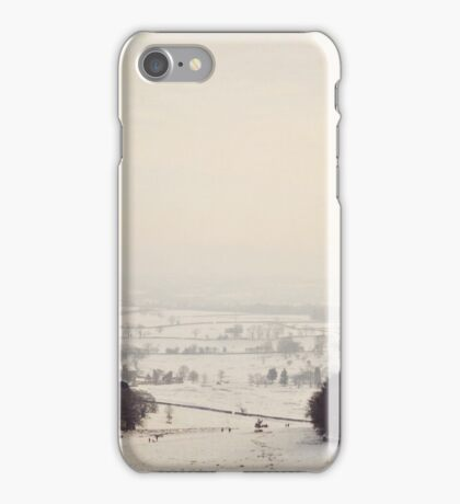 Snow covers the land iPhone Case/Skin