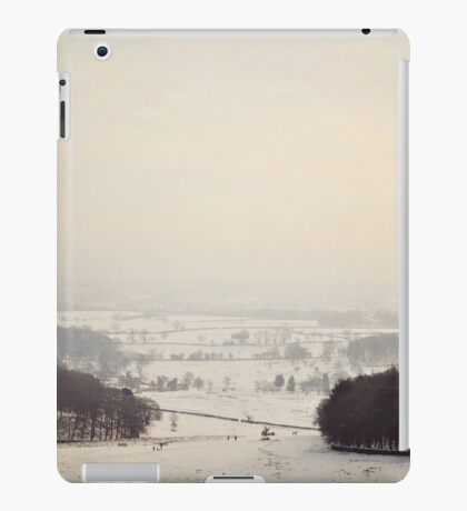 Snow covers the land iPad Case/Skin