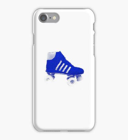 Rollerscate screen print blue iPhone Case/Skin