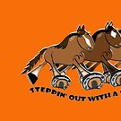 Steppin'out with a Standardbred Mug & pillow by Diana-Lee Saville