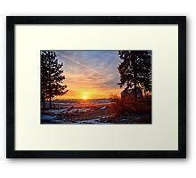 Winter Rise Framed Print