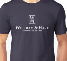 Wolfram & Hart - Attorneys At Law Unisex T-Shirt