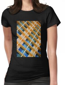 Scratchy Hotel Facade Womens Fitted T-Shirt
