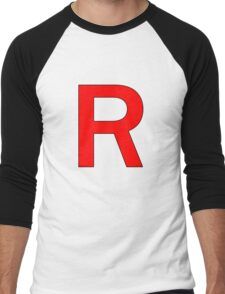 Team Rocket R Logo Men's Baseball ¾ T-Shirt