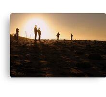 Photographers At Sunset Canvas Print