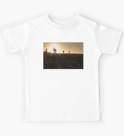 Photographers At Sunset Kids Tee