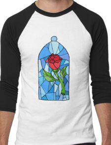 Stained glass Rose  Men's Baseball ¾ T-Shirt