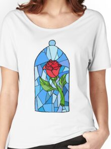 Stained glass Rose  Women's Relaxed Fit T-Shirt