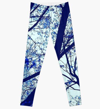 Blue Blush Blossom Clothing & Accessories  Leggings