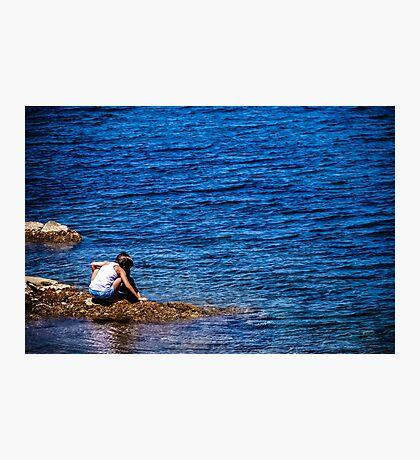 Girl and the Sea Photographic Print