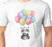 Panda Bear Floating Meditation Unisex T-Shirt