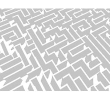 grey and white labyrinth pattern Photographic Print