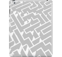 grey and white labyrinth pattern iPad Case/Skin
