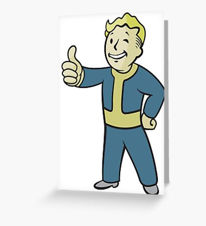 Fall out pip boy Greeting Card