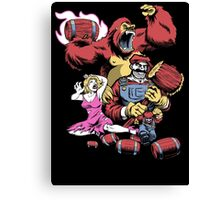 Barrel Boss Battle Canvas Print