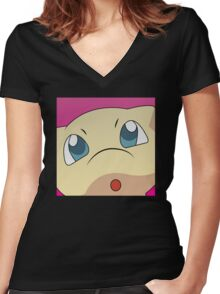 Mew Halftone Women's Fitted V-Neck T-Shirt