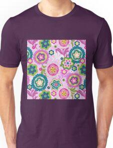 Boho,retro,70's,pattern,vintage,floral Unisex T-Shirt