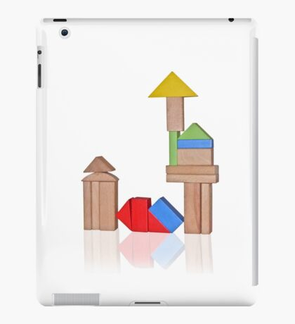 Wooden cubes iPad Case/Skin