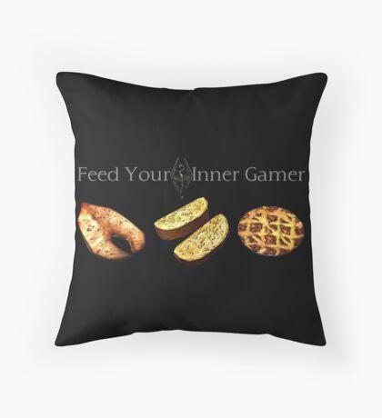 Feed your Inner Gamer Throw Pillow