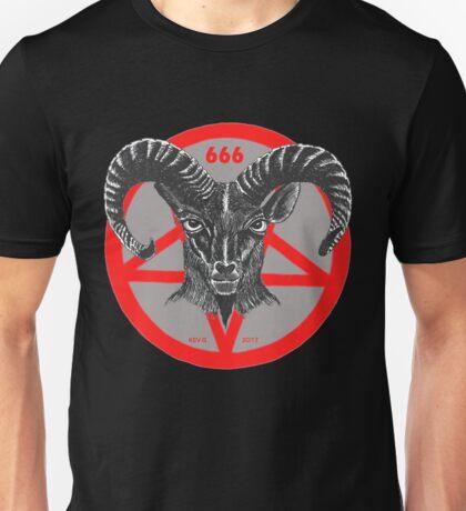 Pentagram Ram Gray Unisex T-Shirt