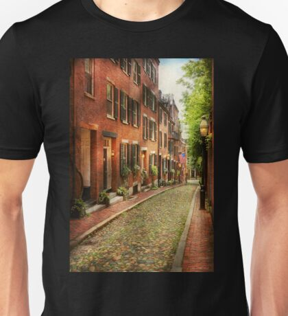 City - Boston MA - Acorn Street Unisex T-Shirt