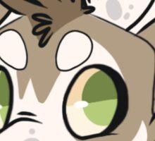 Husky head bubble Sticker