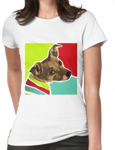 DEANO - Dachshund Mix  Womens Fitted T-Shirt