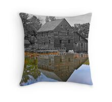 Mirror Image - Grist Mill Reflections Throw Pillow
