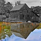 Mirror Image - Grist Mill Reflections by mrthink