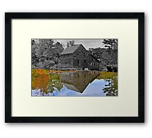 Mirror Image - Grist Mill Reflections Framed Print