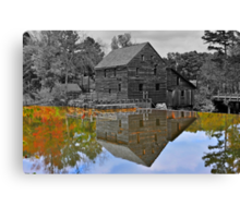 Mirror Image - Grist Mill Reflections Canvas Print