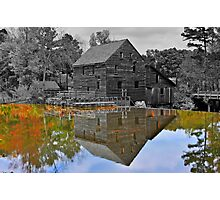 Mirror Image - Grist Mill Reflections Photographic Print