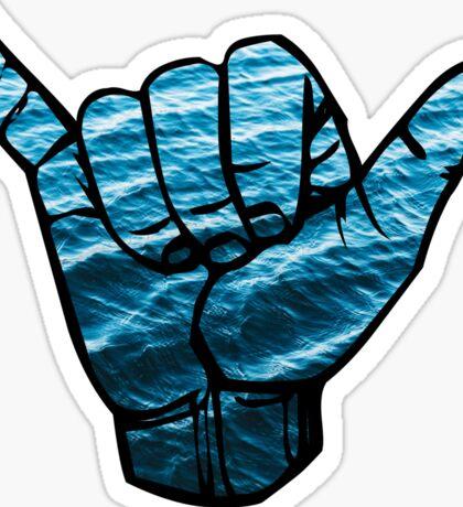 Shaka ASL Waves Sticker