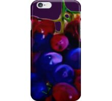 Red & Purple Grapes iPhone Case/Skin