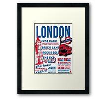 London Infographic Framed Print
