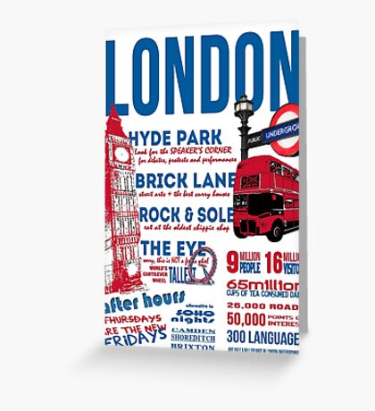 London Infographic Greeting Card